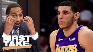 Stephen A. Smith is 'petrified' Lonzo Ball is a bust | First Take | ESPN