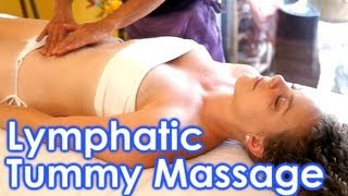 How To Do Lymphatic Massage Therapy Techniques, Abdomen, Tummy For Digestion & Gut Health