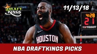 11/13/18 NBA DraftKings Picks - Money Six