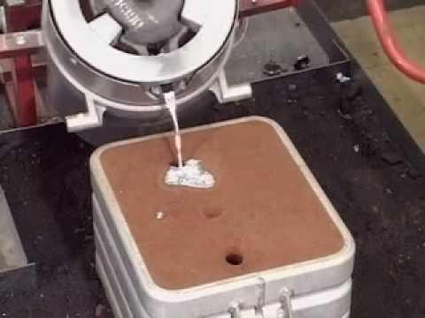 Sand Casting 2 Pouring Aluminium