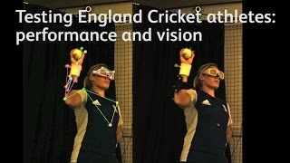 Testing England Cricket athletes: performance and vision