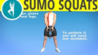 Sumo Squat - Glutes Exercise with Dumbbells