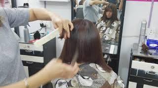 Ladies hair cut and blow dry HK