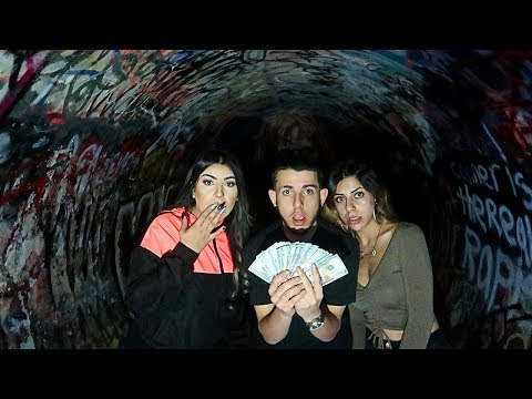 FINDING 5 000 IN THE HAUNTED TUNNEL scary treasure hunt FaZe Rug