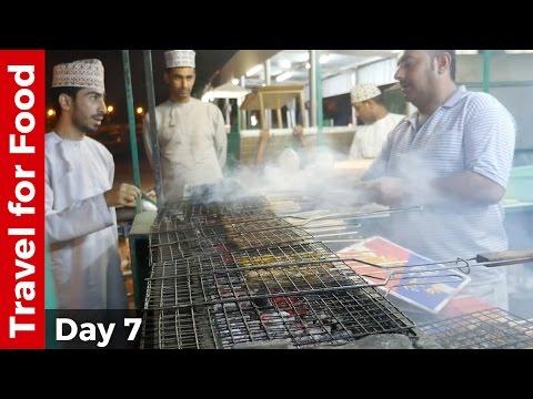 Nizwa Date Palm Oasis and Omani Street Food Mishkak