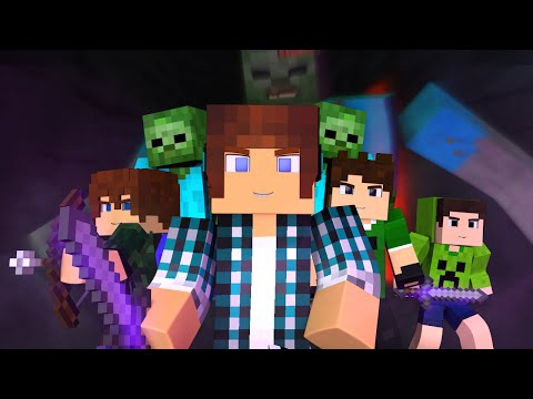 Minecraft Música ♫ - COM MEUS AMIGOS | Animation Minecraft (Feat. Brancoala)