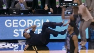 Georgia State Basketball Coach Falls When Son Scores Winning Shot in Epic Father