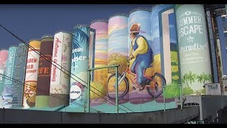 Mural on silos in South Korea recognized by Guinness as world's largest