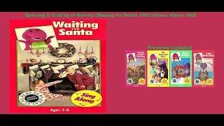 Barney: Waiting for Santa Rare 1992 (Home Video) VHS Opening & Closing