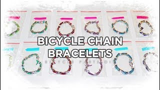 How I made a bracelet using old bicycle chain