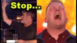 """Simon HALTS Nervous Singer but then GOLDEN BUZZER """"Happens""""? ... Britain's Got Talent 2018"""