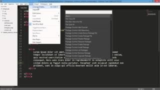 Configurando o editor Sublime Text 3, snippets e plugins
