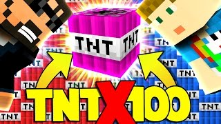 Minecraft: 100X TNT WARS - MODDED TNT!! [3]