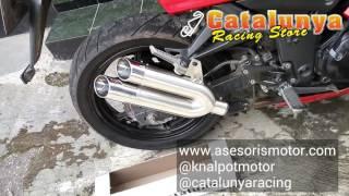 Knalpot Racing Motor Ninja 250 Karbu Double Sound