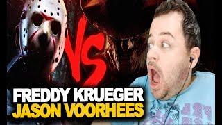 REACT Freddy Krueger VS. Jason Voorhees | Duelo de Titãs (ESPECIAL de TERROR) [ 7 Minutoz ]