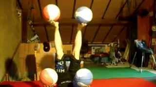 Girl Juggles Five Balls