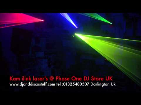 kam ilink lasers @ phase one dj store