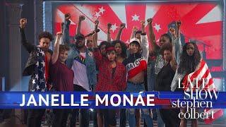 Janelle Monáe Performs