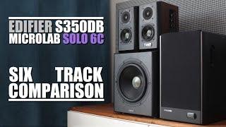 Edifier S350DB vs Microlab Solo 6C  ||  6-Track Comparison