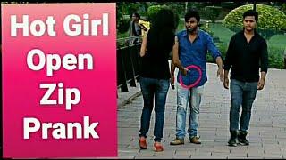 Hot Girl Open Pant Zip Prank || Apki Zip Khuli Hai Prank || Pranks in india || Pranks 2018