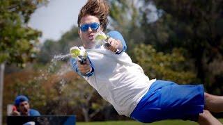EPIC WATER GUN BATTLE! (Smosh Games vs. The Warp Zone)