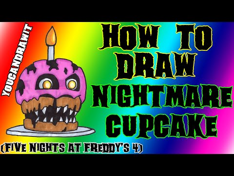 Xxx Mp4 How To Draw Nightmare Cupcake From Five Nights At Freddy S 4 ✎ YouCanDrawIt ツ 1080p HD FNAF 3gp Sex