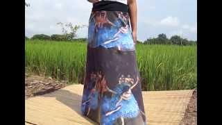 47199 The Green Dancer Ballerina Edgar Degas Patch Skirt Long