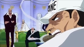 Gorosei and Akainu Learn About Doflamingo's Defeat | One Piece 736