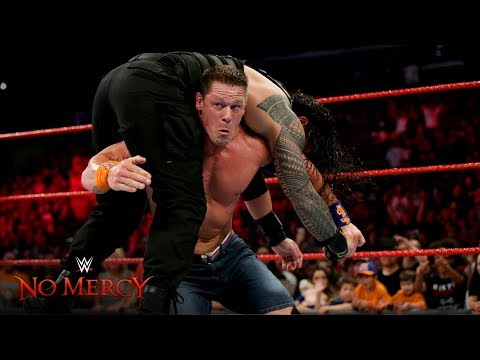 John Cena blasts Roman Reigns with an Attitude Adjustment: WWE No Mercy 2017
