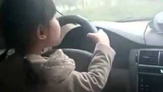 In China even 4 y/o little girls drive!