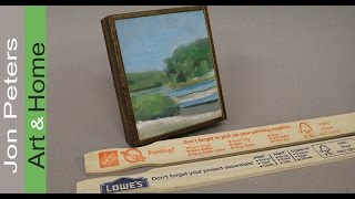 Easy! How to Frame your Paintings with Free Paint Sticks