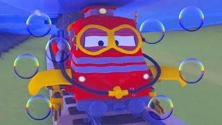 Troy o Trem e Grande inondacion na Cidade do Carro | Desenhos animados de carros e caminhões