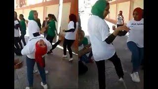 رقص فظيع سيصيبك بالذهول لبنات محجبات من امام اللجان الانتخابيه!!