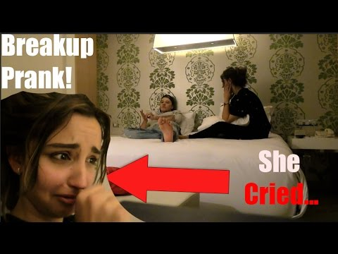 Breaking Up With My Girlfriend PRANK... *She Cried!!*