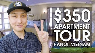 $350 Vietnam Apartment Tour in Hanoi | LIFE IN VIETNAM