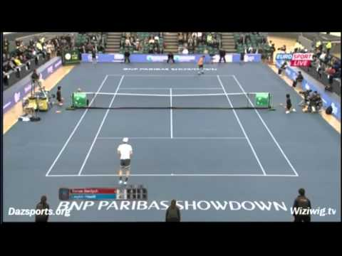 epic moments in tennis-funny match Tomas Berdych vs Lleyton Hewitt World Tennis Day Hong Kong 2014