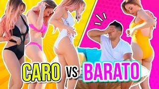 BIKINI CARO VS BARATO 👙 ADIVINA EL PRECIO! | Katie Angel