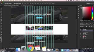How to design a website from Scratch using Photoshop CC Part 2-HTML-CSS