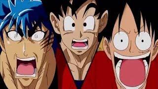 Goku vs Luffy vs Toriko - (full fight) Pelea completa.