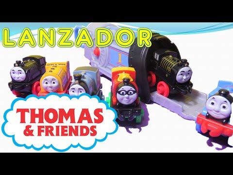 Thomas y sus amigos el rescate con el lanzador Toy Trains Mini launcher Thomas and friends