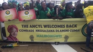 Dlamini-Zuma arrives to warm welcome at OR Tambo