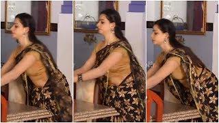 സീരിയല് നടി ദിയയുടെ ഉഗ്രന് പൊക്കിള് || Tamil Serial Actress Divya Hot Navel Slip in Saree
