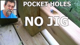 Pocket Hole | No Jig | dave stanton | how to