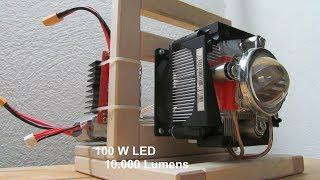 EXTREM bright 10.000 LM 100W [DIY] LED Flashlight  HD