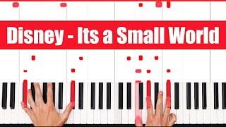 Its a Small World Disney Piano Tutorial - VOCAL 100% SPEED