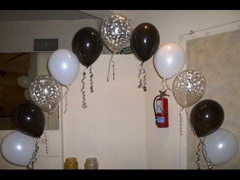 Arcos de perlas con globos Curso de decoración con globos