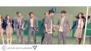 Mashup - Love Me Right vs Mansae - EXO X SEVENTEEN