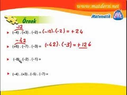 matematik 7.sınıf tam sayılarda çarpma matdersim