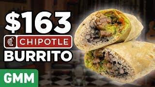 $163 Chipotle Burrito Taste Test | FANCY FAST FOOD