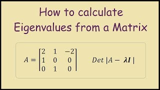 How to find the Eigenvalues of a 3x3 Matrix